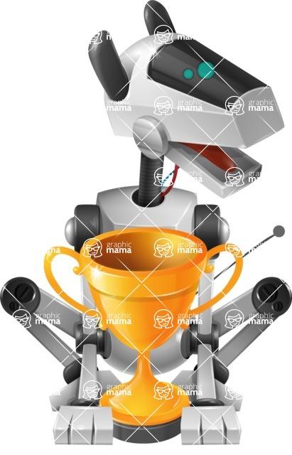 High-Tech Robot Dog Cartoon Vector Character AKA BARD - Cup