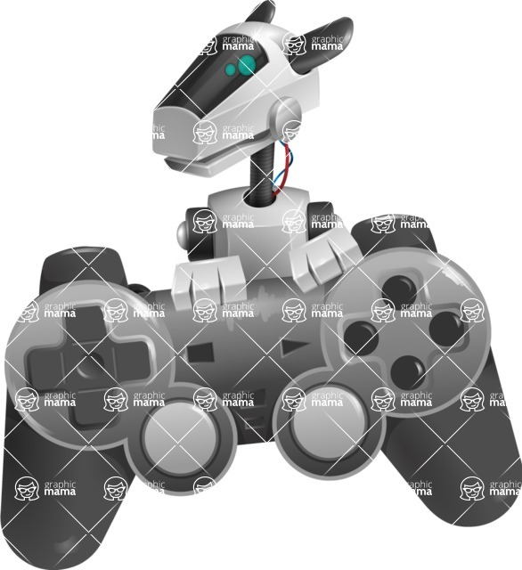 High-Tech Robot Dog Cartoon Vector Character AKA BARD - Game