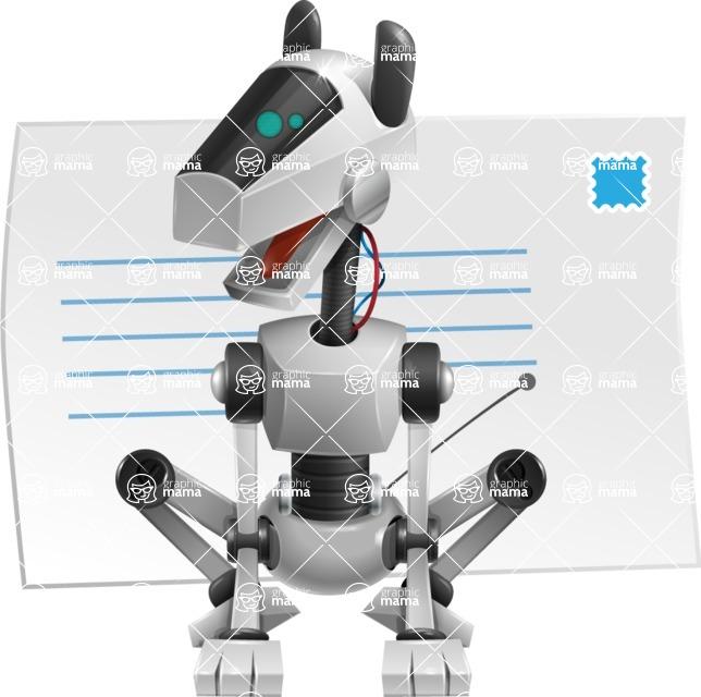 High-Tech Robot Dog Cartoon Vector Character AKA BARD - Mail