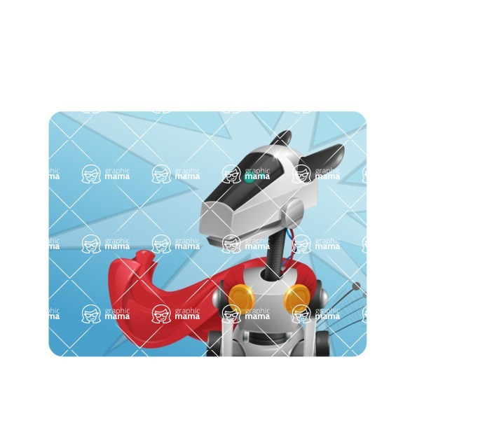 High-Tech Robot Dog Cartoon Vector Character AKA BARD - Shape1