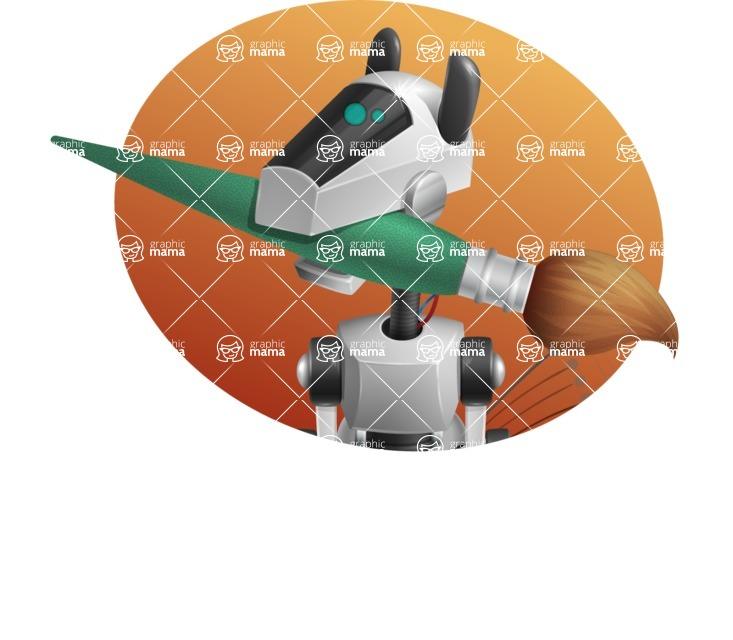 High-Tech Robot Dog Cartoon Vector Character AKA BARD - Shape4