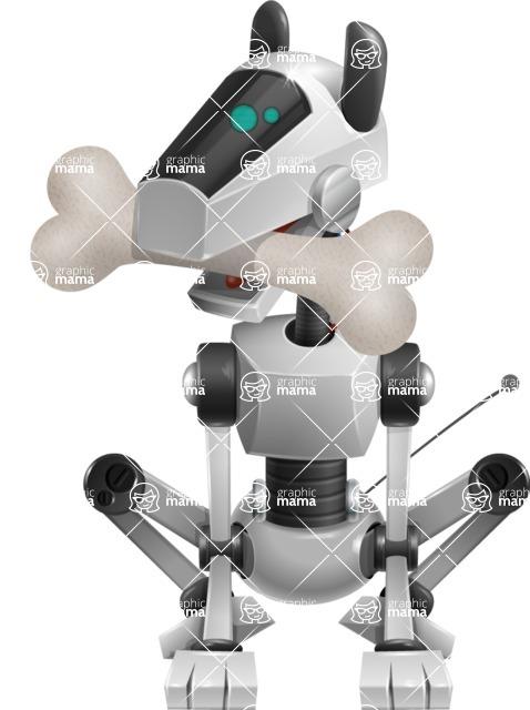 High-Tech Robot Dog Cartoon Vector Character AKA BARD - Bone 1