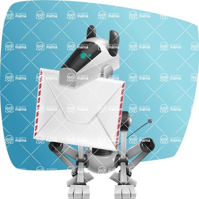 High-Tech Robot Dog Cartoon Vector Character AKA BARD - Shape5