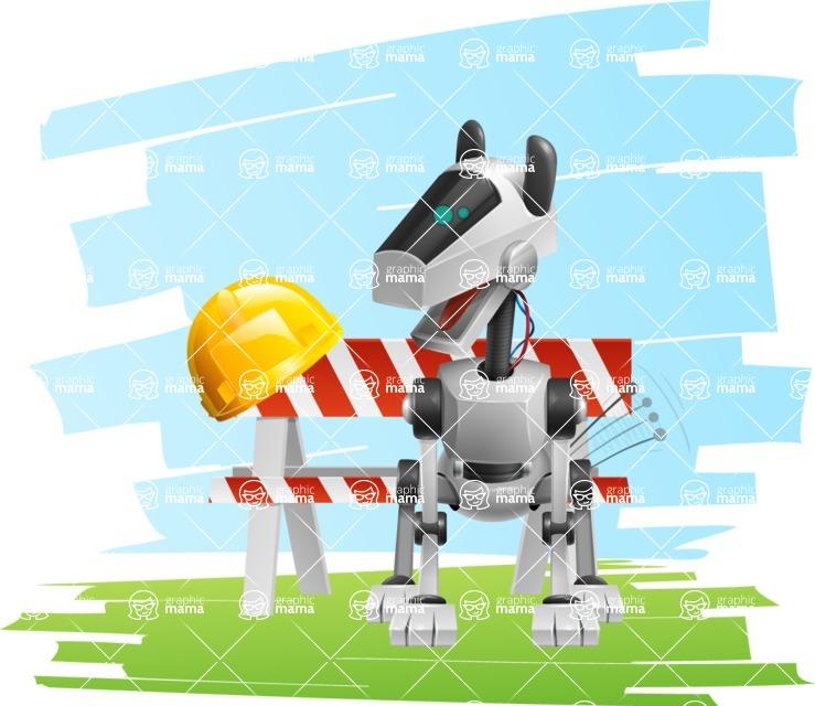 High-Tech Robot Dog Cartoon Vector Character AKA BARD - Shape7