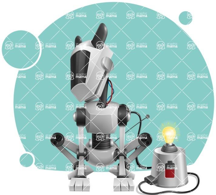 High-Tech Robot Dog Cartoon Vector Character AKA BARD - Shape8