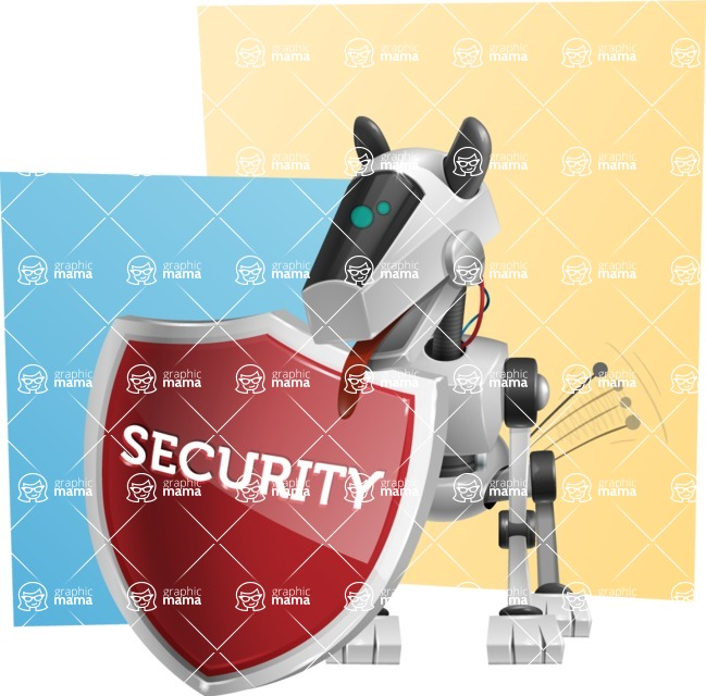 High-Tech Robot Dog Cartoon Vector Character AKA BARD - Shape10