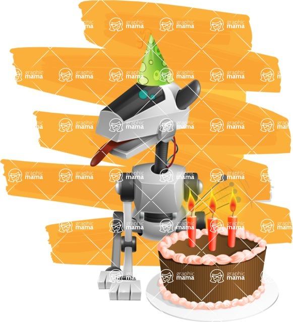 High-Tech Robot Dog Cartoon Vector Character AKA BARD - Shape12