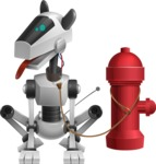 High-Tech Robot Dog Cartoon Vector Character AKA BARD - Fireplug