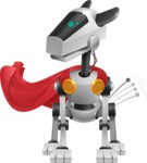 High-Tech Robot Dog Cartoon Vector Character AKA BARD - Super Dog