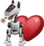 High-Tech Robot Dog Cartoon Vector Character AKA BARD - Lover