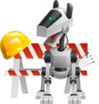 High-Tech Robot Dog Cartoon Vector Character AKA BARD - Under Construction1