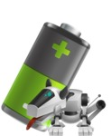 High-Tech Robot Dog Cartoon Vector Character AKA BARD - Battery