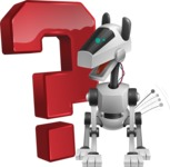 High-Tech Robot Dog Cartoon Vector Character AKA BARD - Question