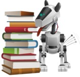 High-Tech Robot Dog Cartoon Vector Character AKA BARD - Books