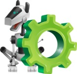 High-Tech Robot Dog Cartoon Vector Character AKA BARD - Gear
