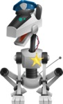 High-Tech Robot Dog Cartoon Vector Character AKA BARD - Police Dog