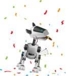 High-Tech Robot Dog Cartoon Vector Character AKA BARD - Party