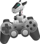 High-Tech Robot Dog Cartoon Vector Character AKA BARD - Game