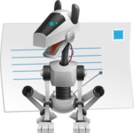 High-Tech Robot Dog Cartoon Vector Character AKA BARD - Mail