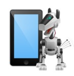 High-Tech Robot Dog Cartoon Vector Character AKA BARD - iPhone