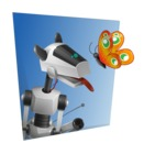 High-Tech Robot Dog Cartoon Vector Character AKA BARD - Shape3