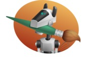 High-Tech Robot Dog Cartoon Vector Character AKA BARD - Shape4
