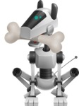 High-Tech Robot Dog Cartoon Vector Character AKA BARD - Bone 1