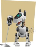 High-Tech Robot Dog Cartoon Vector Character AKA BARD - Shape6