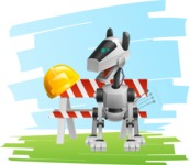 High-Tech Robot Dog Cartoon Vector Character AKA BARD - Shape7