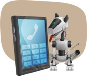 High-Tech Robot Dog Cartoon Vector Character AKA BARD - Shape11