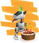 High-Tech Robot Dog Cartoon Vector Character AKA BARD - Shape12