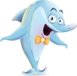 Funny Dolphin Cartoon Character Illustrations - Feeling Shocked