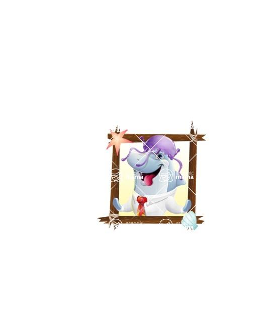 Smart Business Dolphin Cartoon Character - Shape 1