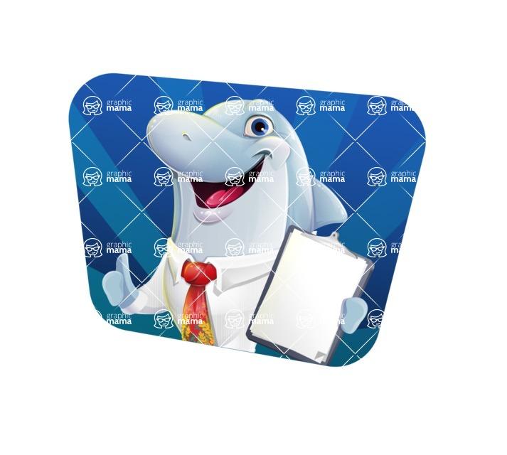 Smart Business Dolphin Cartoon Character - Shape 4