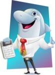 Smart Business Dolphin Cartoon Character - Shape 11