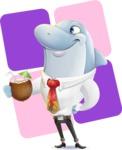 Smart Business Dolphin Cartoon Character - Shape 12