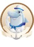 Smart Business Dolphin Cartoon Character - Shape 2