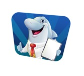 Smart Business Dolphin Cartoon Character - Shape 4