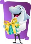 Smart Business Dolphin Cartoon Character - Shape 5