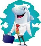 Smart Business Dolphin Cartoon Character - Shape 6