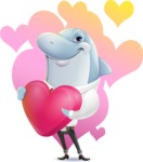 Smart Business Dolphin Cartoon Character - Shape 7