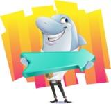 Smart Business Dolphin Cartoon Character - Shape 8