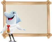 Smart Business Dolphin Cartoon Character - Showing on Big whiteboard