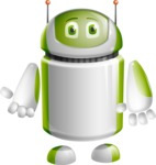 Home Assistant Robot Cartoon Vector Character AKA DAVE - Normal