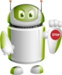 Home Assistant Robot Cartoon Vector Character AKA DAVE - Stop