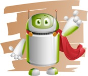 Home Assistant Robot Cartoon Vector Character AKA DAVE - Shape7
