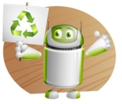 Home Assistant Robot Cartoon Vector Character AKA DAVE - Shape9