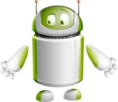 Home Assistant Robot Cartoon Vector Character AKA DAVE - Lost