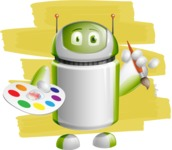Home Assistant Robot Cartoon Vector Character AKA DAVE - Shape12