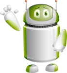 Home Assistant Robot Cartoon Vector Character AKA DAVE - GoodBye